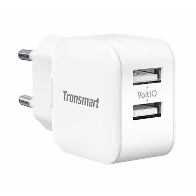 Tronsmart W02 Dual Port USB Wall Charger White