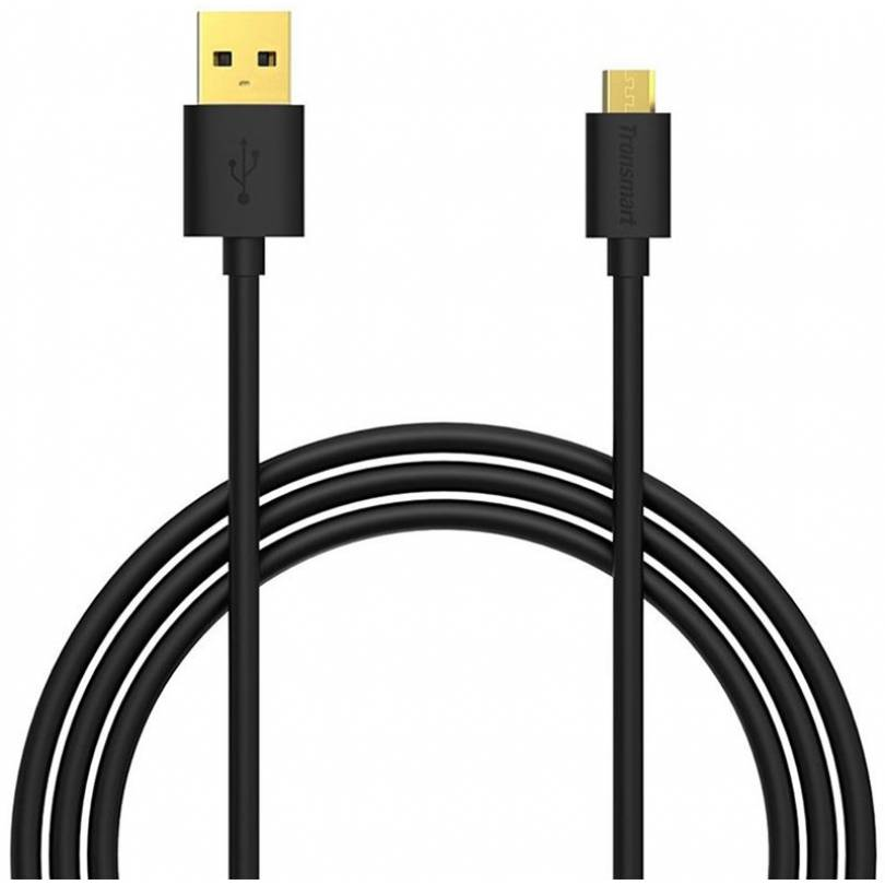 Кабель Tronsmart MUS06 Premium USB Cable 1.8m With Gold-Plated Connectors Black