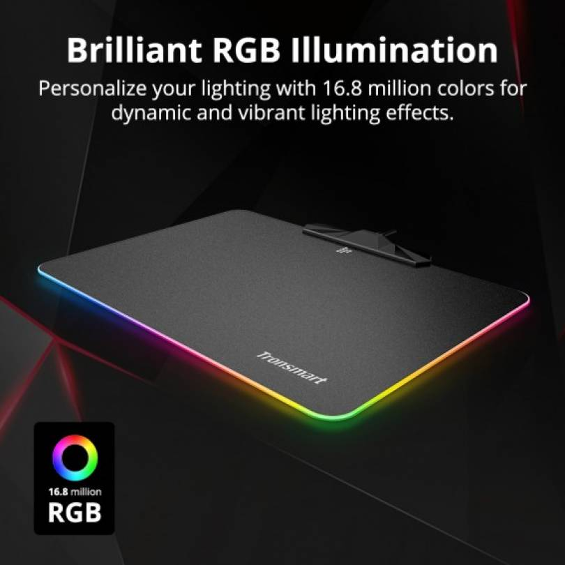 Tronsmart Shine X RGB Gaming Mouse Pad Black