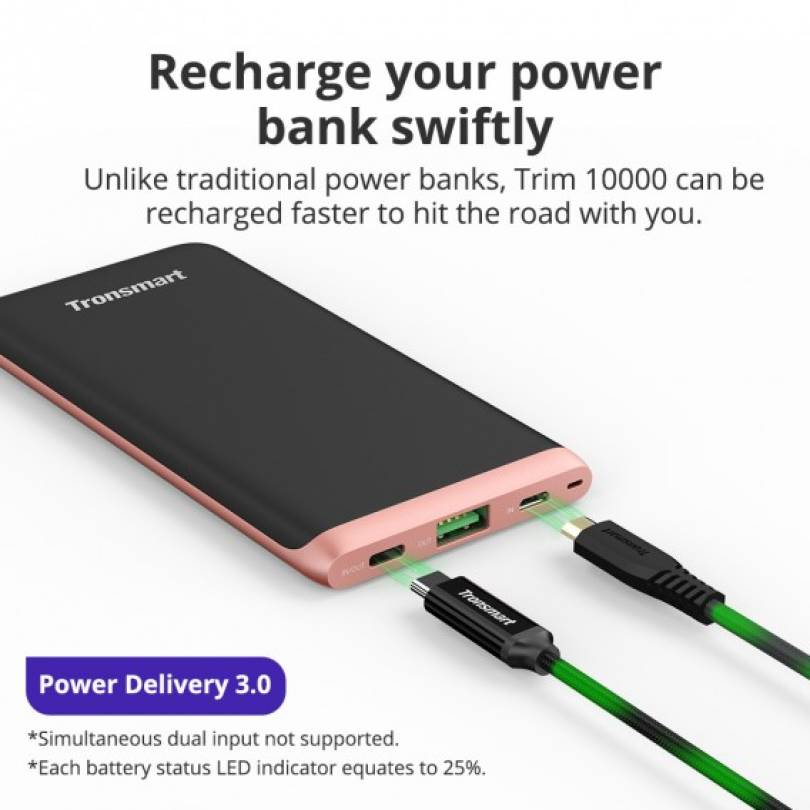 Trim 10000mAh USB-C Power Bank